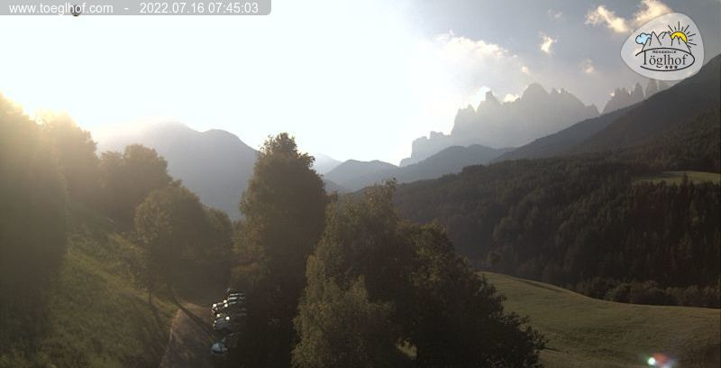 Webcam Villnss Residence Tglhof - Dolomiten